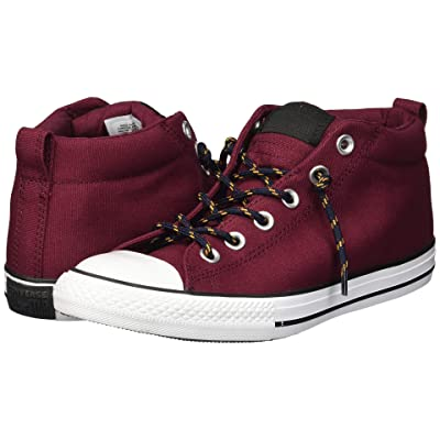 Converse Kids Chuck Taylor All Star Street Mid (Little Kid/Big Kid) (Dark Burgundy/Black/Turmeric Gold) Boy