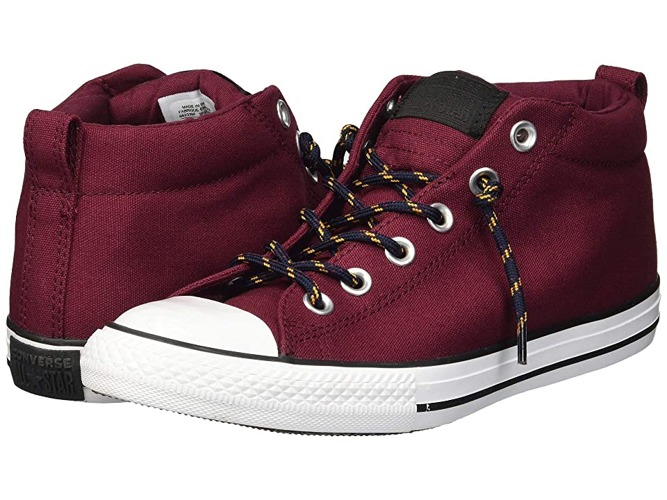 d0d51d825c3bed Converse Kids Chuck Taylor All Star Street Mid (Little Kid Big Kid) (Dark  Burgundy Black Turmeric Gold) Boy s Shoes