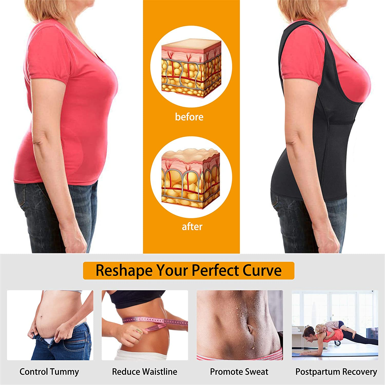 Eleady Damen Beste Neopren-Taillen-Trainer Korsett Sweat Vest Weight Loss Body Shaper Workout Tank Tops