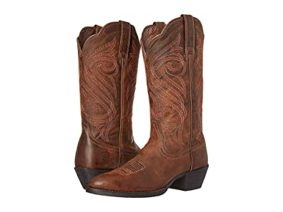 Ariat Round Up R Toe (Dark Toffee) Cowboy Boots