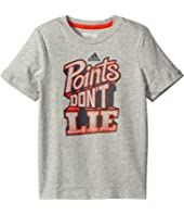 adidas Kids - Points Don't Lie Tee (Toddler/Little Kids)