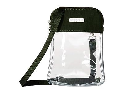 Baggallini Legacy Stadium Bags Clear Bryant Crossbody (Deep Green) Cross Body Handbags