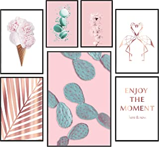 murando Affiches Métallique Or Rose Effet de 7 Affiches Motif Tableaux Impression Poster Murale Galerie Moderne Décoration...