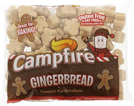Campfire Gingerbread Flavored Marshmallow, (1) 8 oz Bag