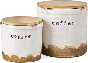 Imax 90635-2 Trisha Yearwood Coffee Talk Decorative Canister - Set of 2