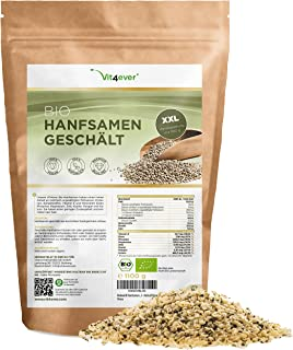 Biologische Hennep Zaden Gepeld - 1100 g (1,1 kg) - Premium: Herkomst Nederland - Natuurlijke Eiwitbron - Rijk aan Omega-3...