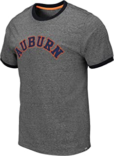 Colosseum Men's NCAA Ringer Relaxed Fit Tri-Blend T-Shirt-Heather Grey