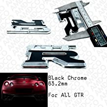 CHROME RED GTR CHROME Emblem Badge Stickers Decals with Strong 3M Includes instructions MEASURE Before Purchase Fitment Top Quality fit For GTR REAR pack of 1 AMD