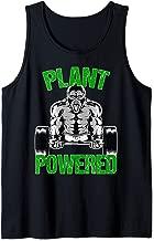 Plant Powered Shirt Vegan Gym Vegan Workout Fitness Gift Tank Top