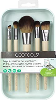 EcoTools Start the Day Beautifully Kit, Makeup Brush Set for Foundation, Eyeshadow, Blush