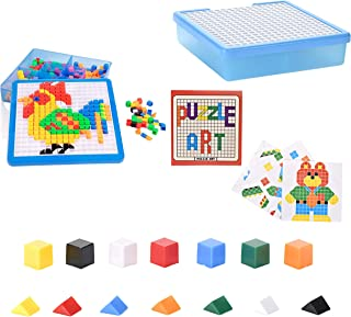 Toy Mosaic Puzzle, Educational Stem toy for Boys and Girls for creating shapes and building toy set by JIDREAM العاب تعليم...