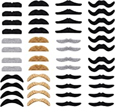 Whaline 48 Pack Novelty Fake Moustache Self Adhesive Moustaches Set for Masquerade Party Favor, Costume and Performance