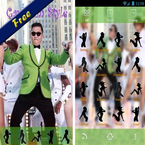 Gangnam style go launcher theme