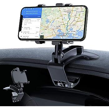 車載ホルダー GESMA スマホホルダー 360度回転 スマホ車載ホルダー クリップ式 車 携帯ホルダー スマホスタンド iphone 車載ホルダー 自由調節 カーマウント 着脱簡単 取り付け簡単 iPhone/Android/Huawei/Sony/Samsungなど(4-6.8インチ)に対応 日本語説明書付き ブラック…