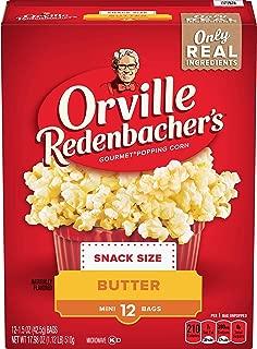 Orville Redenbacher's Butter Popcorn, 1.5 Ounce Single Serve Bag, 12-Count, Pack of 6