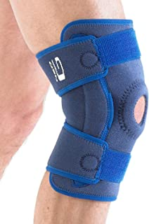 Neo G Knee Brace, Hinged Open Patella - Side Hinges Support For ACL, Arthritis, Joint Pain, Meniscus Tear, Running, Skiing - Adjustable Compression - Class 1 Medical Device - One Size - Blue
