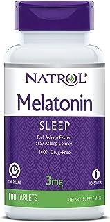 Natrol Melatonin Time Release Tablets, 3mg, 100 Count