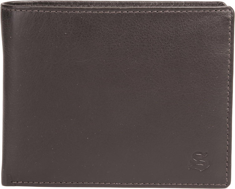Szuna Geldbörse 3 in 1 Echt Leder Dunkelbraun Herren - 016444 B00LJED2ZG  Zuverlässige Qualität