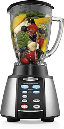 discount Oster Reverse wholesale Crush Counterforms wholesale Blender, with 6-Cup Glass Jar, 7-Speed Settings and Brushed Stainless Steel/Black Finish - BVCB07-Z00-NP0 outlet sale