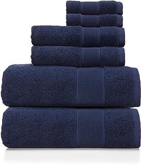 Ralph Lauren Sanders Towel 6 Piece Set Club Navy - 2 Bath Towels, 2 Hand Towels, 2 Washcloths