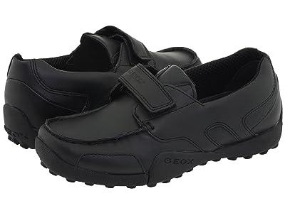 Geox Kids Jr. Snake Moc (Little Kid) (Black) Boys Shoes