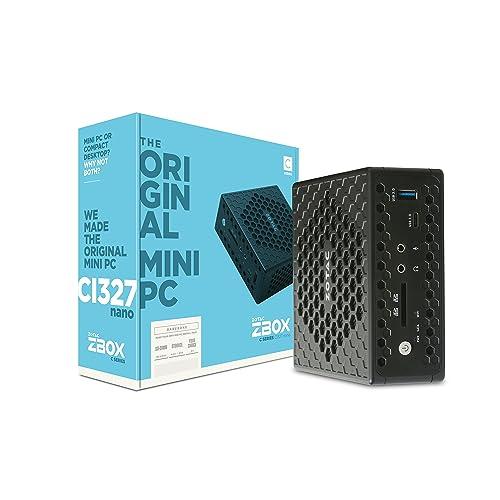 Zotac CI327 Nano BGA 1296 1,10 GHz N3450 PC de Dimension 1L Noir - Barebones PC/Poste de Travail (BGA 1296, Intel® Celeron®, 1,10 GHz, N3450, 14 nm, 2,20 GHz)