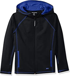 Amazon Essentials Toddler Boys' Full-Zip Active Jacket, Black, 2T