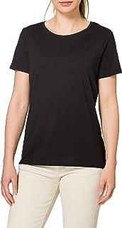 MERAKI Damen T-Shirt mit rundem Ausschnitt, 2er-Pack