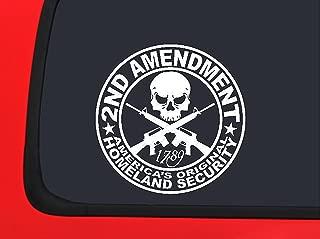 2nd Amendment White window decal sticker Gun Rights