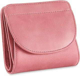 Kattee ミニ財布 本革 人気 かわいい レディース 二つ折り RFID保護機能(スキミング防止) 小さい財布 オシャレ ボックス型 小銭入れ コインケース