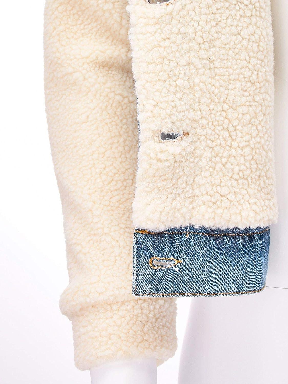 FashionMille Women Denim Sherpa Jacket