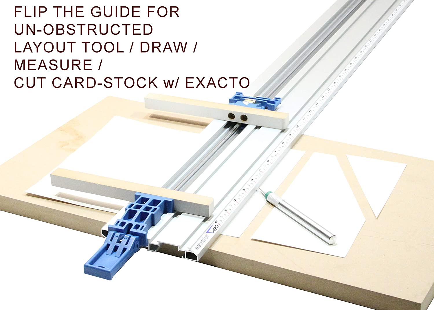 Emerson Tool Co CM-50 50-Inch Metric Scale All-In-One Contractor Straight Edge Clamping Tool Guide w//Story Stick E
