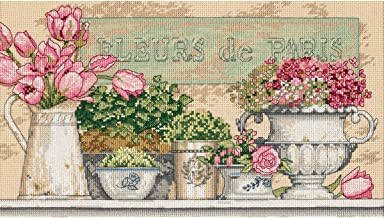 Dimensions 'Flowers of Paris' Counted Cross Stitch Kit, 14 Count Beige Aida, 14