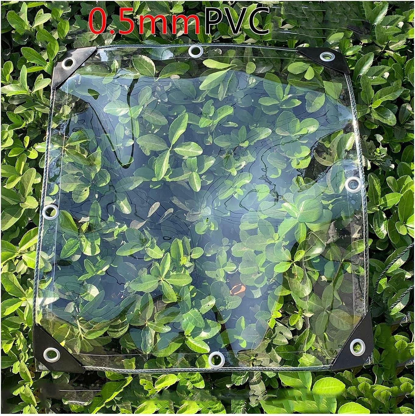 Tarp LJIANW Transparent Tarpaulin Cover 2021 spring and summer new Shelter He Save money Balcony Rain