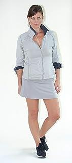 Devon Women's Active Performance Skort Lightweight Skirt for Running Tennis Golf Workout Sports (XX-Large) Gray