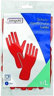 bingold 504412látex guantes de protección, Rojo