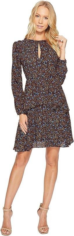 CATHERINE Catherine Malandrino - Long Sleeve Keyhole Tiered Dress