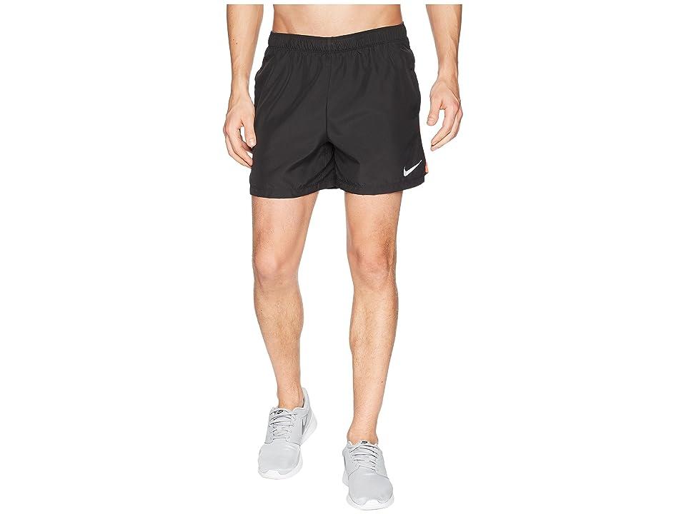 Nike Challenger 5 Running Short (Black/Black/Rush Coral) Men