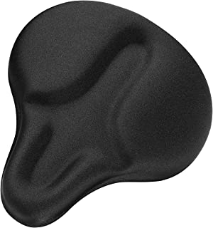 Xmifer Bike Seat Cover, Oversize Bike Seat Cushion Extra Soft Gel Bike Seat Cover Exercise Bike Seat Cover for Women Men Comfortable Bicycle Seat Cover for Exercise Bike Spin Bike Cruiser Bike