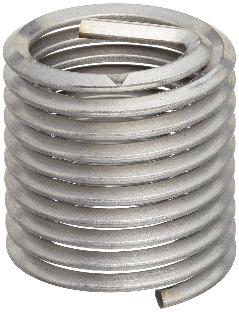 E-Z Lok Threaded Insert, 18-8 Stainless Steel, Helical, #4-40 Internal Threads, 0.168