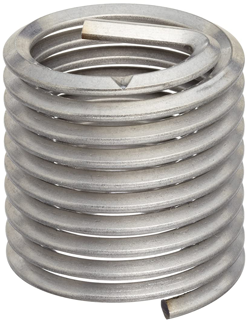 E-Z Lok Threaded Insert, 18-8 Stainless Steel, Helical, #4-40 Internal Threads, 0.168