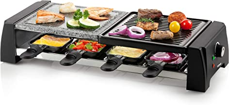Domo DO9190G Raclette/grill en pierre, Noir/Gris