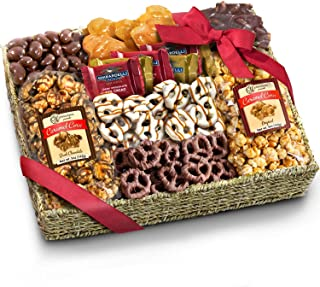 Chocolate Caramel and Crunch Grand Gift Basket for Valentines, Snack, Business, Office and Family