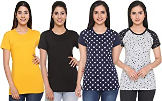 69GAL (105Women T-Shirt (Multicolors) (Pack of 4) (S/M/L/XL/3CL/5XL)