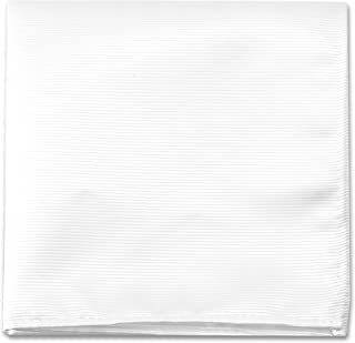 Pocket Squares For Men & Boys - Mens Woven Pocket Square Tuxedo Wedding Solid Color Formal Handkerchiefs