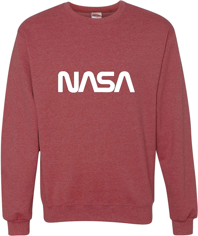 Go All Out Adult NASA Logo Crewneck Worm Sweatshirt Popular Very popular products