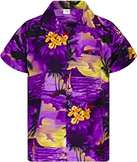 Koszula Hawajska Funky Casual Dla Mężczyzn Bardzo Głośno Krótki Rękaw Dla Obu Płci Surfować