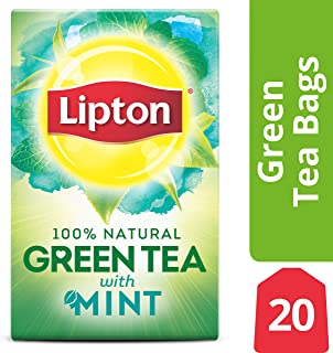 Lipton Green Tea Bags, Mint, 20 ct, Pack of 6