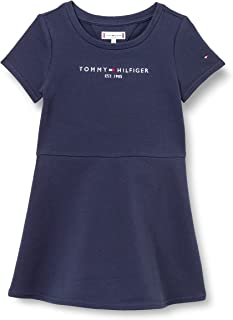 Tommy Hilfiger Girl's Essential Skater Dress S/S Dress, Color:Twilight Navy, Size:6