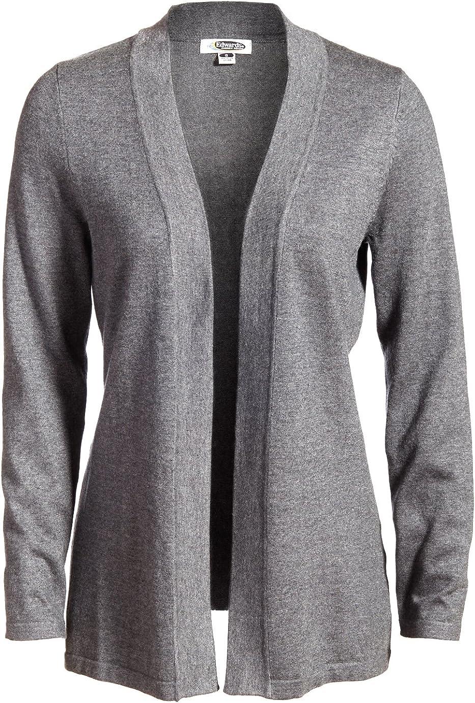 Grey Heather Women's Open Front Cardigan, Size: XS